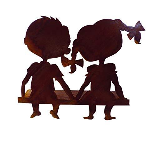 Figura decorativa de pareja, 20 x 18 cm, diseño de parejas