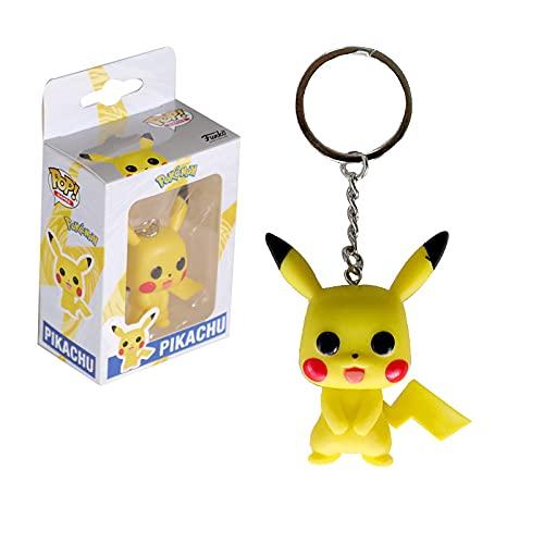 Porte Clef Pikachu Figurine Célèbre 25ans Pocket Funko Pop Key Chaine Carte a jouer Action Pokémon Top Bobbleheads
