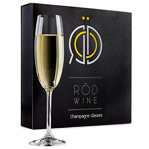 Champagne Glasses - Lead Free Titanium Crystal Sparkling Wine Glass, 7.5 oz....