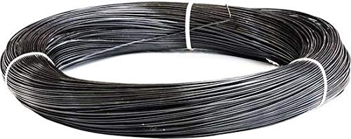 Garmix Spanndraht Bindedraht Schwarz Maschendraht Zaun Metall Draht (50m, 3,8mm)