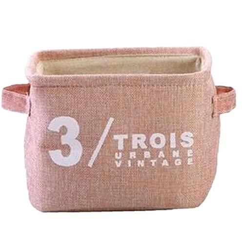 Froiny Ropa De Escombros Caja De Almacenamiento Organizador De Escritorio Cesta Mujeres Maquillaje Contenedor De Almacenamiento De 20.5 * 17 * 15cm