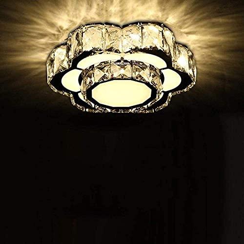 Araña duradera Lámpara de techo de cristal LED moderna Sala de estar Restaurante Acrílico Lámpara de luz cálida Iluminación colgante Hyococ