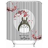 Brandless Cortina De Ducha My Neighbor Totoro, Cortina De BañO De Tela De PoliéSter Impermeable para BañO-W90xh180cm