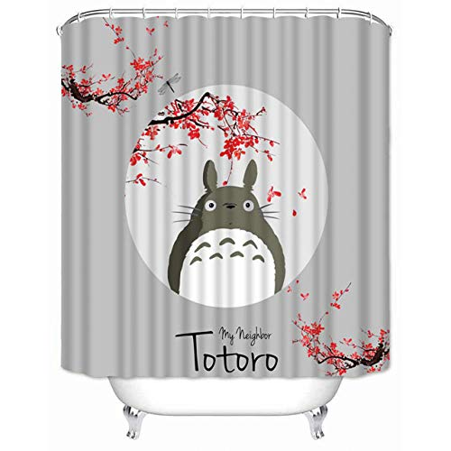Brandless Hochwertiger Duschvorhang Meines Nachbarn Totoro Wasserdichter Badezimmervorhang Aus Polyestergewebe-B90xh180cm