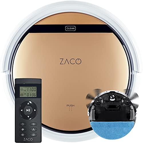 ZACO V5sPro Saugroboter mit Wischfunktion, automatischer Staubsauger Roboter, 2in1 nass Wischen bis...