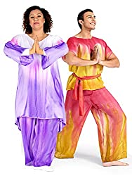 Watercolour Adult Unisex Plus Size Hand Painted Worship Palazzo Pants WC100P