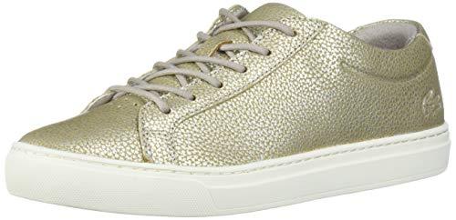 Lacoste Women's L.12.12 Shoe, Grey/Off White, 9.5 Medium US