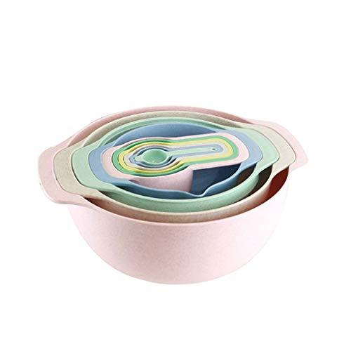 PDGJG 10 Pcs Set Mixing Bowl Measure Cup Spoons Baking Measurement Utensil Kitchen Measuring Colander Colander Sifter Tool