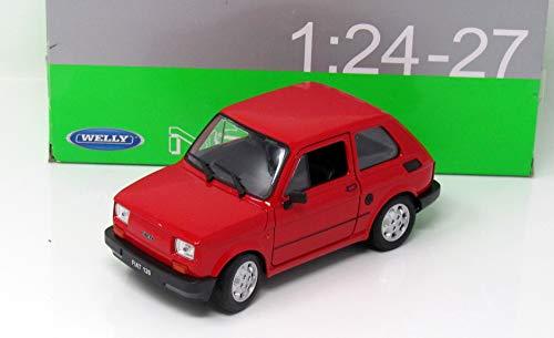 Fiat 126, rot, 0, Modellauto, Fertigmodell, Welly 1:24