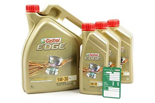 3x 1 L + 5 L = 8 Liter Castrol Edge Fluid Titanium 5W-30 LL Motoröl