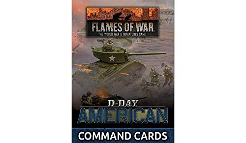 Flames of War Late War United States: D-Day: American Command Cards (FW262C)
