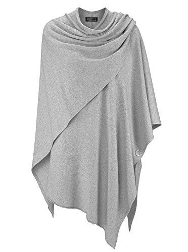 Zwillingsherz Poncho-Schal mit Kaschmir - Hochwertiges Cape für Damen - XXL Umhängetuch und Tunika mit Ärmel - Strick-Pullover - Sweatshirt - Stola für Sommer und Winter von Cashmere Dreams (HGR)