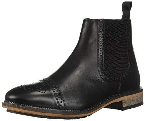 Steve Madden Men's DEADBOLT Chelsea Boot, black leather, 10.5 M US