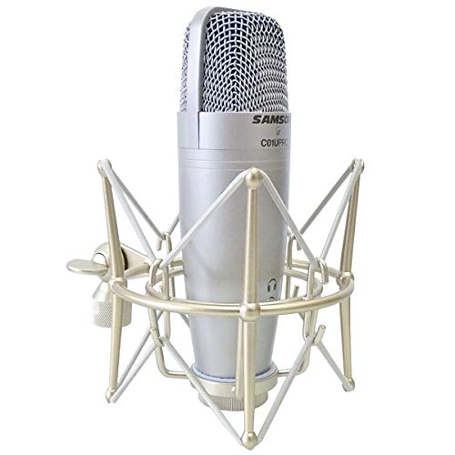 Samson C01U Pro - Microfono a condensatore USB da studio + retino Keepdrum MS089