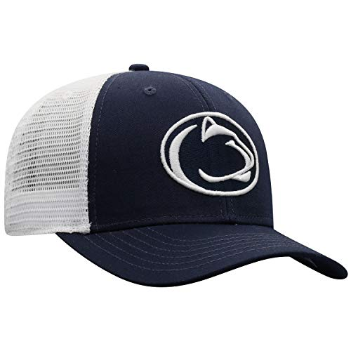 NCAA Penn State Nittany Lions Male BB Trucker Hat Team Color Primary Icon, Penn State Nittany Lions Blue, Adjustable