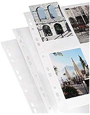 Hama Fundas Fotográficas para Álbumes de Anillas (A4, 10 x 15 cm, Blanco, 10 hojas, 9 x 13 / 10 x 15, 297 mm, 210 mm)