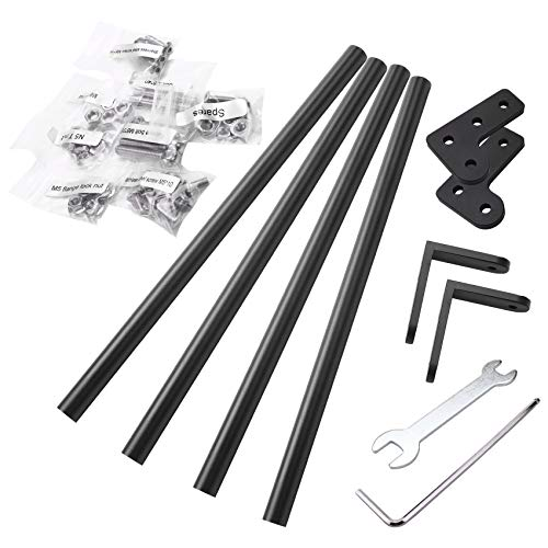 Monland 3D Printer Bracket Upgrade Tie Rod Kit 300MM Dual Z Axis Aluminum Plate for CR-10 Pull Rod Kit DIY Desktop