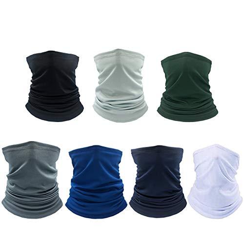 Rpanle Pañuelos Cabeza Elástica Multifunción, 7 Piezas Multifunción Bufanda, Protector Facial, Resistente a Los Rayos UV, para Deportes al Aire Libre/Yoga/Correr/Senderismo/Ciclismo(Multi Colors)