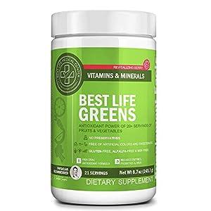 Best Life Greens Powder | Vegan, Organic, Non-GMO Superfood Mix | Cleanse & Balance with Raw Plant-Based Antioxidant Powder