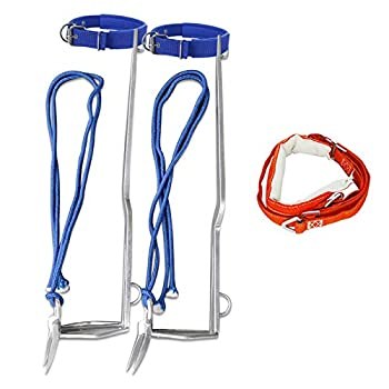Trycooling 2 Gears Tree Climbing Tool Non-Slip Climbing Tree Spikes with Safety Belt and Adjustable Rope Belt for High-Altitude Logging Fruit Picking Outdoor Hunting