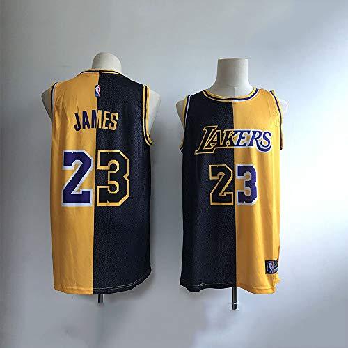 DDSC Baloncesto Uniformes Jersey Knight Lakers 23º James Yinyang cosiendo Camisetas de Baloncesto Nueva Camiseta Dividida Deportivas Camiseta -Ropa De Jersey 03 Models-Large