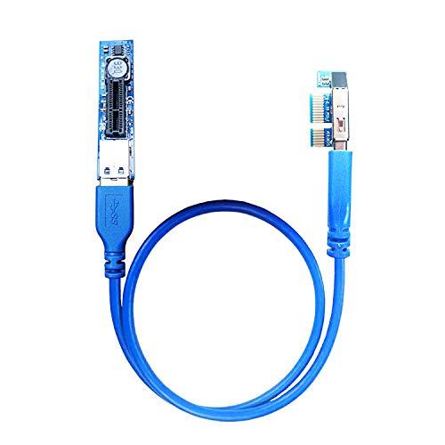 glotrends PCI-E Verlängerungskabel 0,6 m für begrenzte Platzeinbautung (UEX101)
