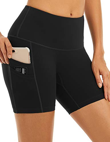 4HOW Womens Yoga Shorts with Spandex Cheerleading Home Workout Lounge Booty Shorts