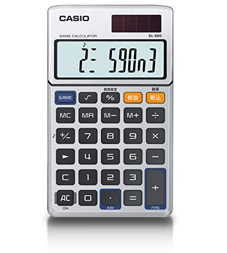 カシオ ゲーム電卓 手帳タイプ 10桁 SL-880-N