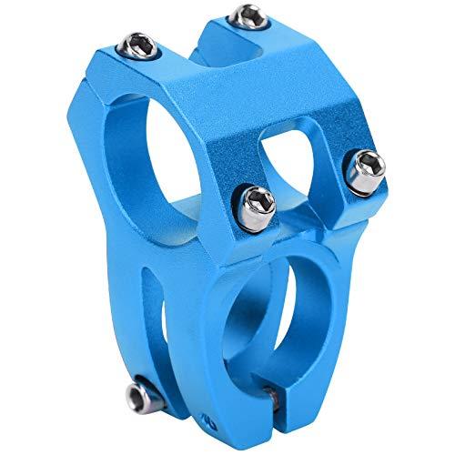 Deror Vástago de Bicicleta de montaña Manillar Corto de aleación de Aluminio Vástago Hueco 31.8x35mm(Azul)