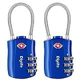 Diyife TSA Equipaje Locks, [2 Paquetes] 3 DíGitos Seguridad Candado, CombinacióN Candados, Bloqueo De CóDigo para Maletas Equipaje Viaje, Etc. (Azul)