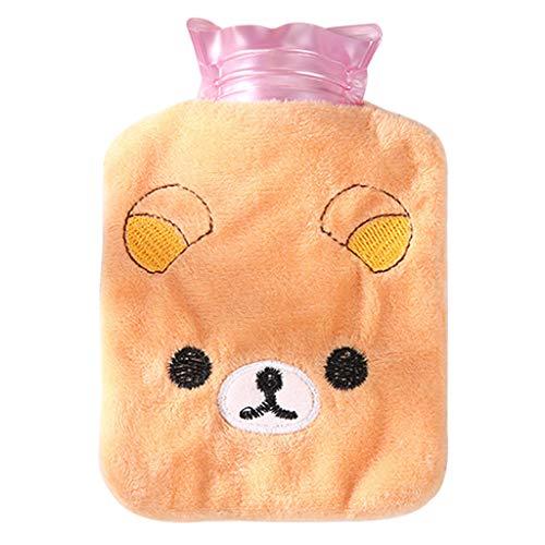 GGsheng 1 x 14 x 9,5 cm Mini-Wärmflaschen-Tasche, PVC, handlich, Plüsch, Hand- und Fußwärmer, dicker Behälter, abnehmbar, waschbar, tragbare Tasche.
