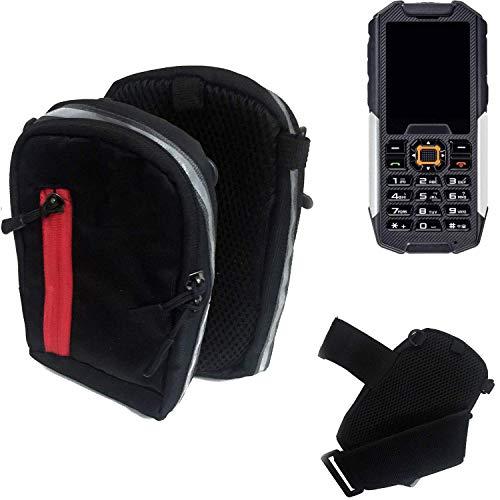 K-S-Trade® Outdoor Gürteltasche Umhängetasche Für Cyrus cm 7 Schwarz Handytasche Case Travelbag Schutzhülle Handyhülle