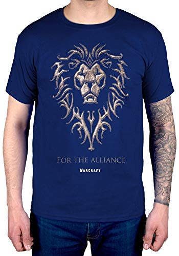 Fashion World of Warcraft The Alliance T-Shirt Online Game Tee