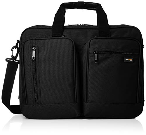 [エー・エル・アイ] ショルダーバッグ 3way ビジネスバッグ キャリーON機能搭載 ダブルルーム PCパッド 多機能ポケット ブラック