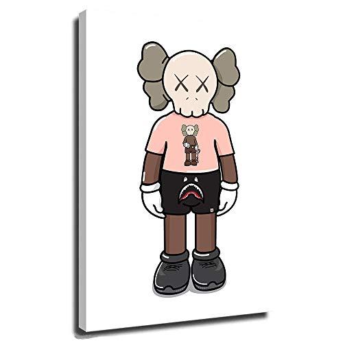 DRAGON VINES Kaws Poster, beliebte Kunst, Bild für Wohnzimmer, Kaws Aka Brian Donnelly, Beautiful Losers Blame Game, 40,6 x 61 cm