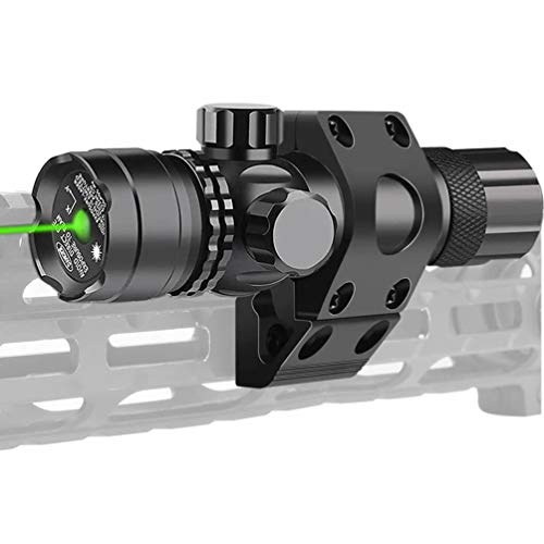 Higoo Tactical Military Green Laser Sight Dot Scope with Mlok Ring Mount and Pressure Switch for Hunting and Shooting