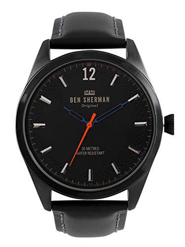 Ben Sherman Herren Datum klassisch Quarz Uhr mit Leder Armband WB019BB