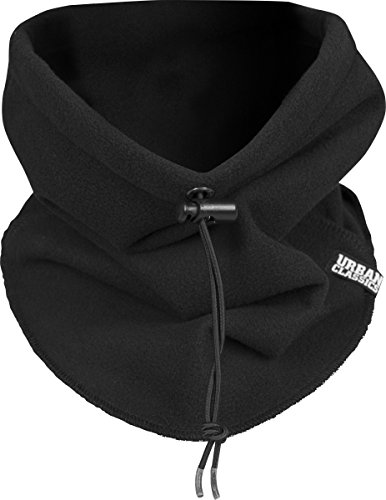 Urban Classics Unisex Polar Fleece Neck Gaiter Schal, schwarz (# 7), One size