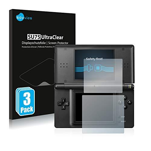 Savvies 6X Schutzfolie kompatibel mit Nintendo DS LITE Displayschutz-Folie Ultra-transparent