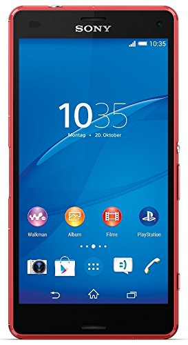 Sony Xperia Z3 Compact Smartphone, Display 4,6 Pollici, HD-TRILUMINOS-Display, 2,5 GHz-Quad-Core-Processore, 20,7 MP Fotocamera, Android 4.4, Rosso [Germania]