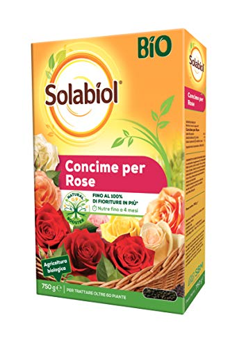 Solabiol Concime per Rose Granulare Biologico in grado di favorire lo sviluppo radicale, 750g