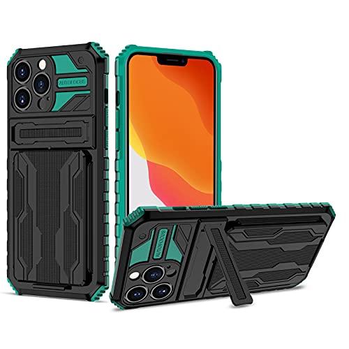 NEINEI Cover per Xiaomi Mi 11 Lite,Custodia Outdoor Antiurto Qualità Militare con [Slot Schede][Supporto],Premium PC/TPU Silicone Bumper Phone Case Cover,Verde
