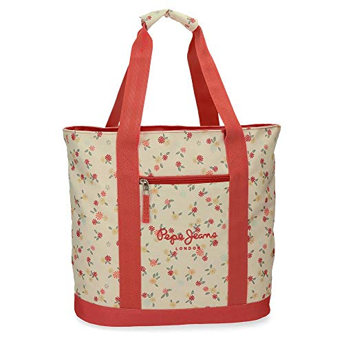 Pepe Jeans Joseline Handtasche zum Einkaufen Mehrfarbig 44x36x14 cms Polyester