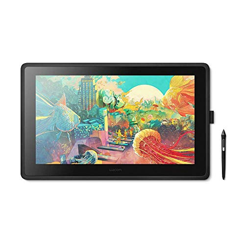 Wacom Cintiq 22, Display Interattivo con Penna, Supporto Regolabile per Illustrare e Disegnare su Schermo, con Display full HD da 1.920 x 1.080, Colori Vivi e Penna di Precisione Wacom Pro Pen 2, comp
