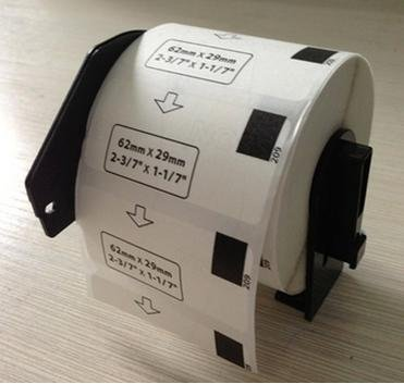 【PC工房】ブラザープリンターラベル感熱ロール紙DK-1209互換ラベル6個入り+専用フレーム1個【ロール交換可能】タイプのセット