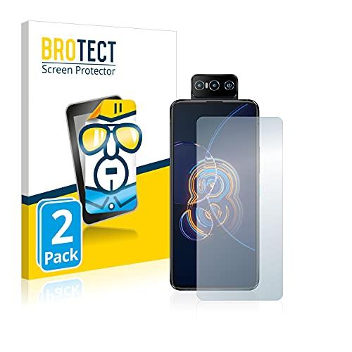 BROTECT Schutzfolie kompatibel mit Asus ZenFone 8 Flip (2 Stück) klare Bildschirmschutz-Folie