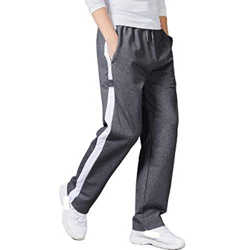 Pantalones de Hombre Otoño Color sólido Tallas Grandes Casual Cordón de Rayas...
