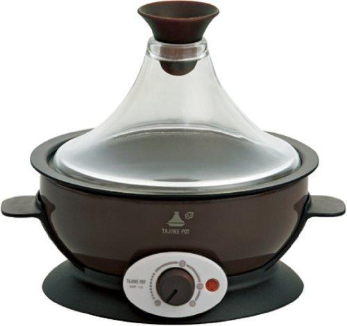 アピックス アピス タジンポット <蒸す 焼く 煮るの1台3役> 20品目レシピブック付 ブラウン AMP-170-BR