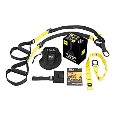 TRX Training - Suspension Trainer Basic Kit + Door Anchor, Complete Full Body Workouts Kit for Home and on the Road