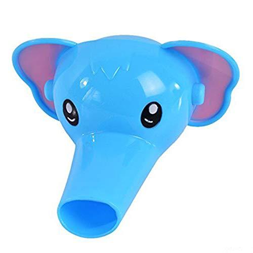 Vektenxi 1 STÜCKE Kunststoff Cartoon Elefant Wasserhahn Verlängerung Entzückende Waschbecken Wasserhahn Spritzen Wasserhahn Extender für Wohnkultur Blau